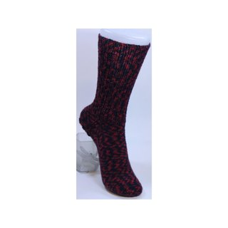 Handgestrickte Socken Pepita rot Gr. 34/35